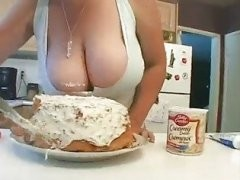 Mom with Huge Tits Gropped In Kitchen