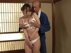 Japanese busty woman gets fucked hard