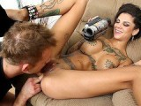 Bonnie Rotten getting her pussy licked and recording on camera